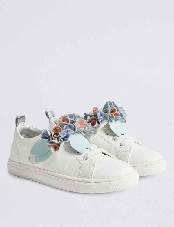 37dc748a73f7 Kids  Floral Trainers (13 Small - 6 Large)