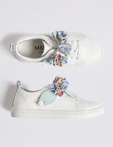 Kids' Floral Trainers (13 Small - 6 Large)