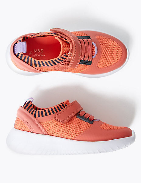 Kids' Light As Air™ Knitted Riptape Trainers (5 Small - 12 Small)