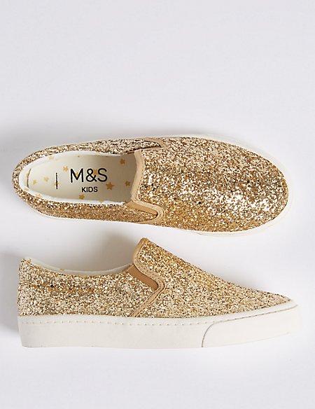 Kids' Glitter Fashion Trainers (13 Small - 6 Large)