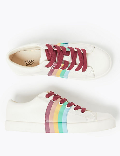 Kids' Rainbow Design Trainers (13 Small- 6 Large)