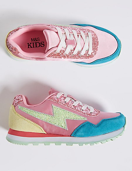 Kids' Satin Fashion Trainers (13 Small - 6 Large)