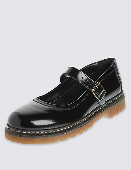 Kids' Leather Cross Bar Shoes with Insolia Flex®