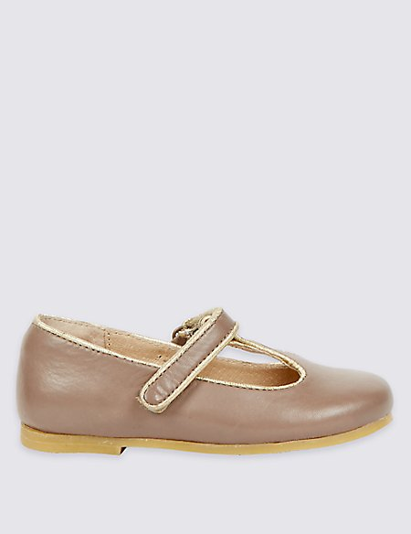 Kids' Leather T-Bar Shoes (4 Small - 10 Small)