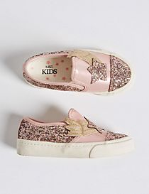 Kids' Star Glitter Fashion Trainers