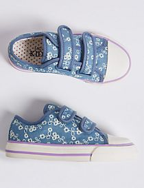 Kids' Denim Riptape Fashion Trainers