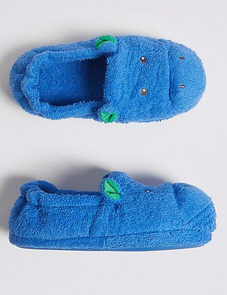 Kids' Hippopotamus Bath Slippers (5 Small - 12 Small)