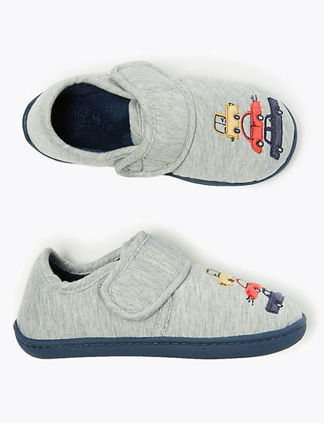 Kids' Car Riptape Slippers (5 Small - 12 Small)