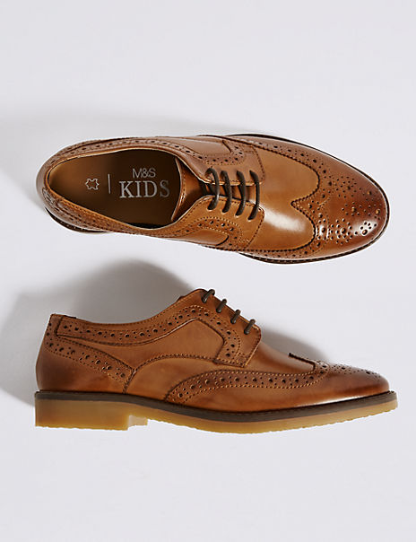 Kids' Leather Brogue Shoes (13 Small - 7 Large)