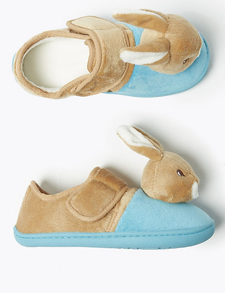 Kids' Peter Rabbit™ Riptape Slippers (5 Small - 12 Small)
