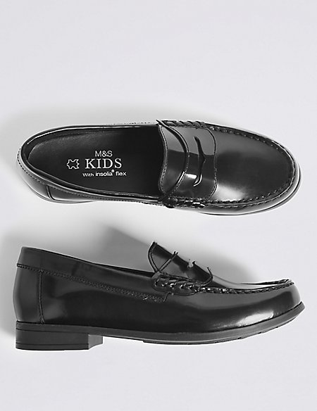 Kids' Leather Penny Loafers (13 Small - 7 Large)