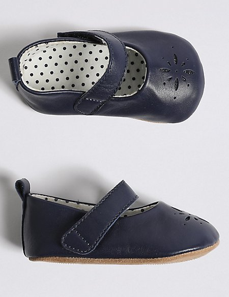 Baby Leather Cut Out Pram Shoes