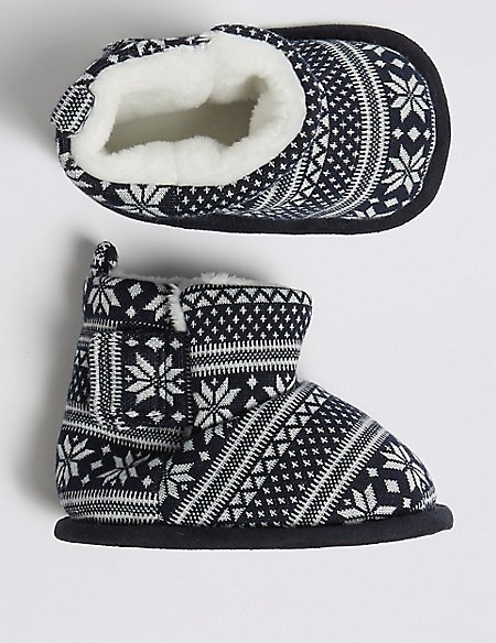 Baby Fairisle Pram Shoes