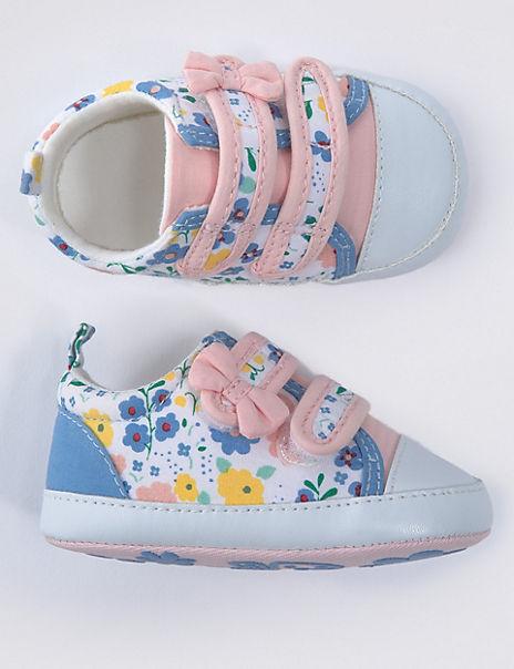 Baby Ditsy Print Pram Shoes (0-18 Months)
