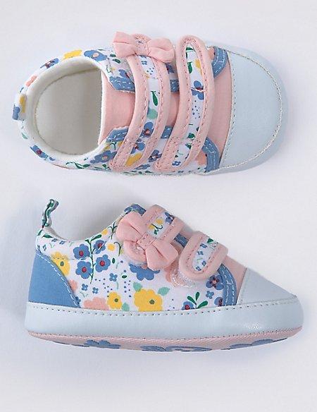 Baby Ditsy Print Pram Shoes