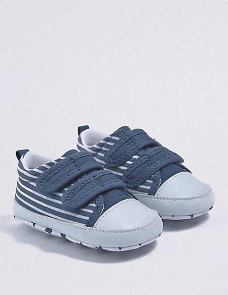 Baby Striped Pram Shoes