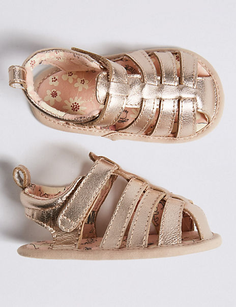 Baby Leather Metallic Sandals (0-18 Months)