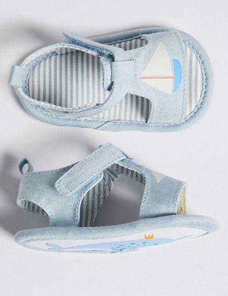 Baby Boat Chambray Pram Shoes