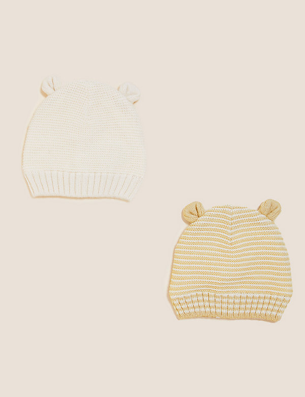 Kids' 2pk Animal Winter Hats (0-12 Mths)