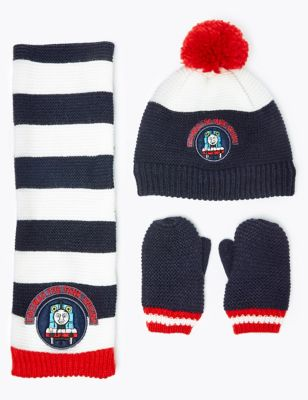 Beanie Hat /& Scarf Set One size 2 to 6 Years Boys Thomas /& Friends Official Licensed Gloves