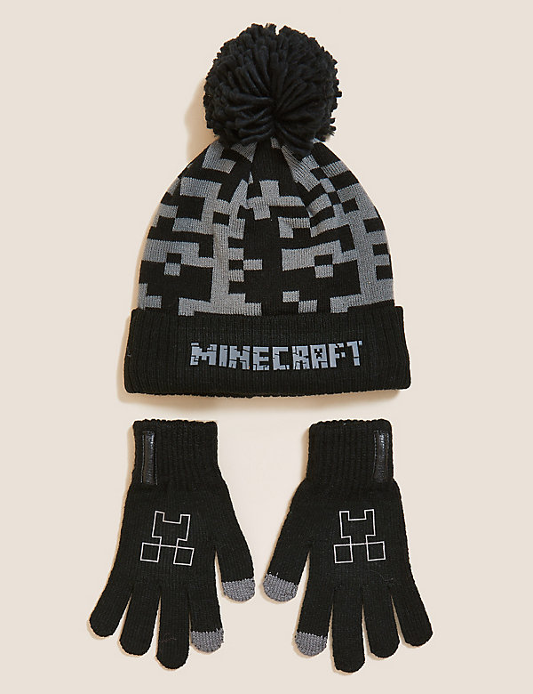 Kids' Minecraft™ Hat and Glove Set (6-13 Yrs)