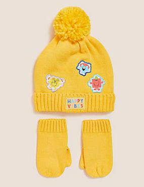 Kids' Mr Men™ Hat and Mitten Set (12 Mths - 6 Yrs)