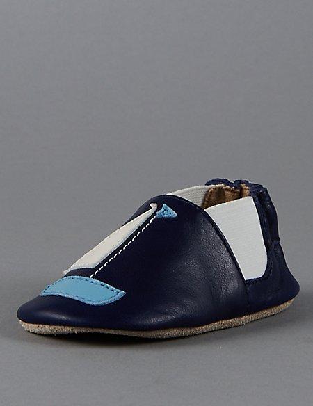 Kids' Leather Slip-On Pram Shoes