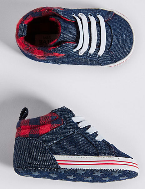 Baby Denim Pram Shoes (0-18 Months)