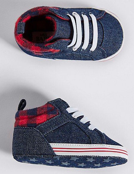 Baby Denim Pram Shoes