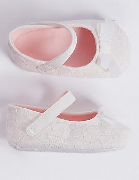 Baby Bow Christening Pram Shoes
