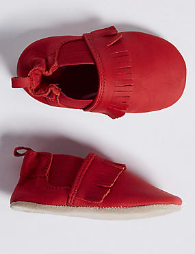 Baby Suede Fringe Pram Shoes