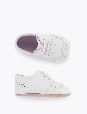 Baby Leather Pram Shoes