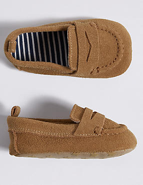 Baby Suede Loafer Pram Shoes