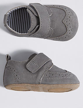 Baby Suede Riptape Pram Shoes