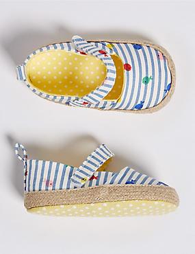 Baby Riptape Espadrille Pram Shoes