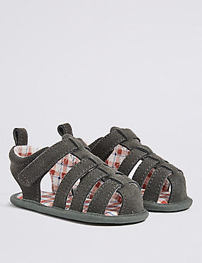 Baby Leather Riptape Fisherman Sandals
