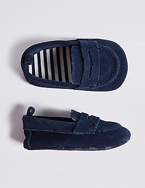 Baby Suede Loafer Pram Shoe