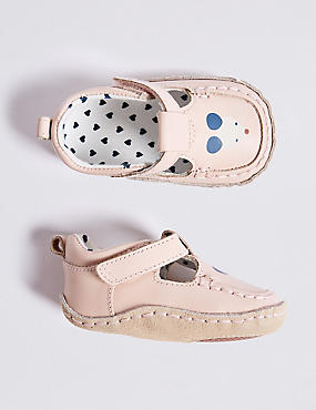 Baby Leather Printed Pram Shoes