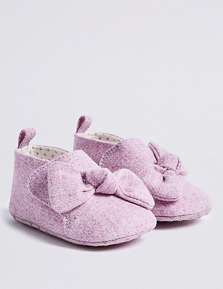Baby Bow Pram Shoes