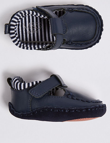 Baby Leather Riptape Shoes (0-18 Months)