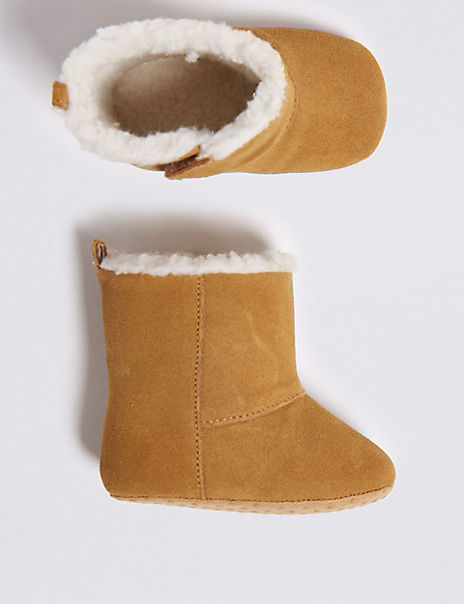 Baby Suede Riptape Boots (0-18 Months)