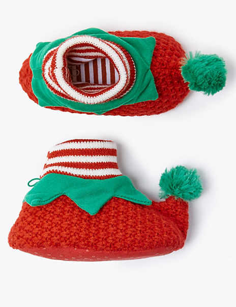 Baby Knitted Elf Shoes (0-18 Months)