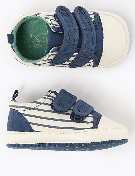 Baby Riptape Striped Trainers (0-3 Months)