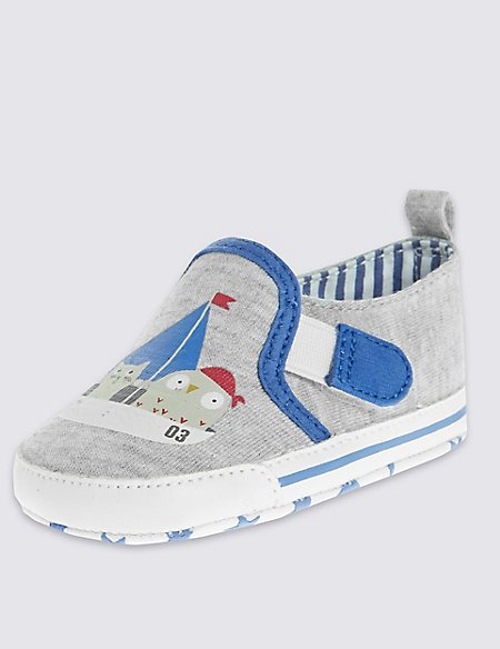 Kids' Slip-on Textile Pram Shoes