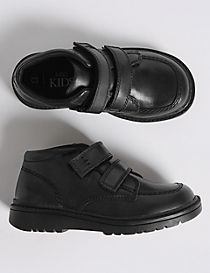 Kids' Leather Ankle Boots with Freshfeet™ (5 Small - 12 Small)
