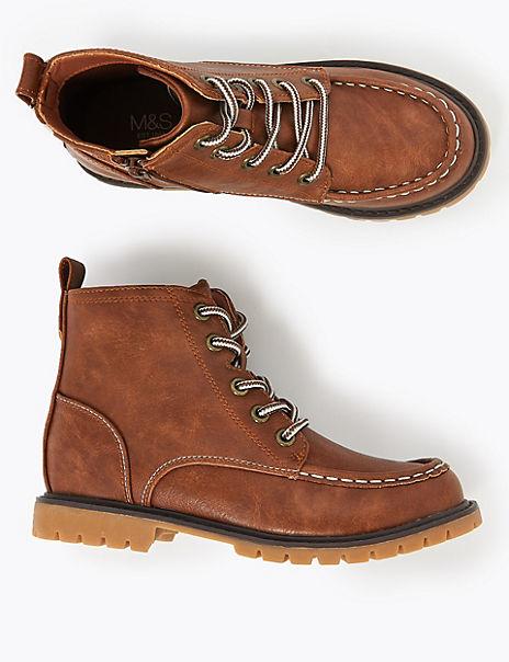 Kids' Freshfeet™ Apron Seam Hiker Boots (13 Small - 7 Large)