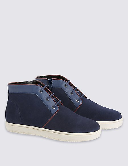 Kids' Leather Lace-up Chukka Boots