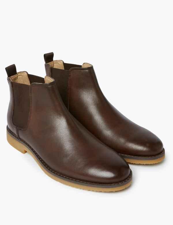 Kids Boys Brown Chelsea Boots | Tu clothing