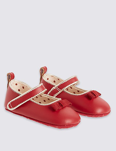 Kids' Leather Mary Jane Bow Shoes
