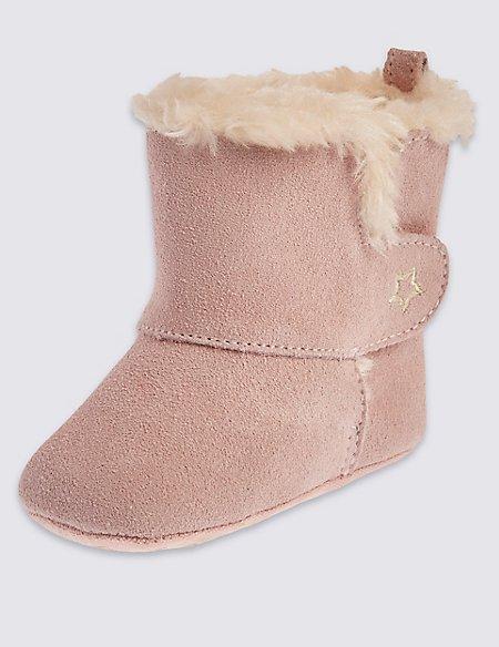 Kids Suede Pram Boots